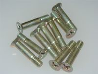10 x M6 Steel Countersunk Bolts Metric Total Length: 30mm  [F8]